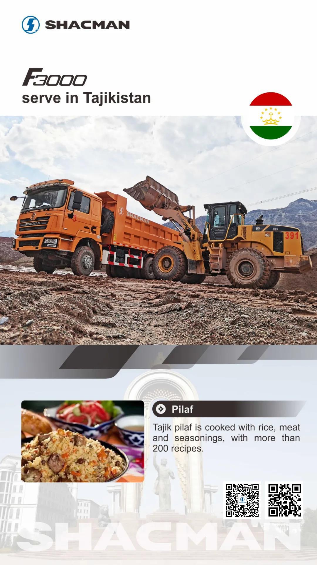 SHACMAN F3000 Dump Trucks in Tajikistan