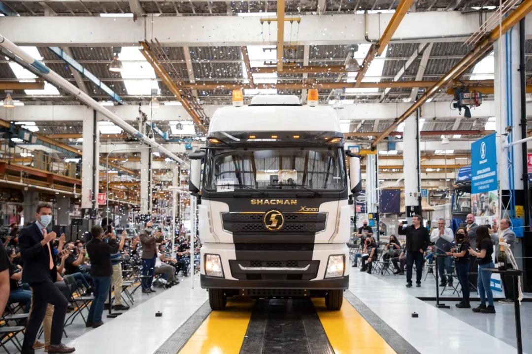 The first SHACMAN X3000 diesel tractor truck was successfully assembled in Hidalgo, Mexico