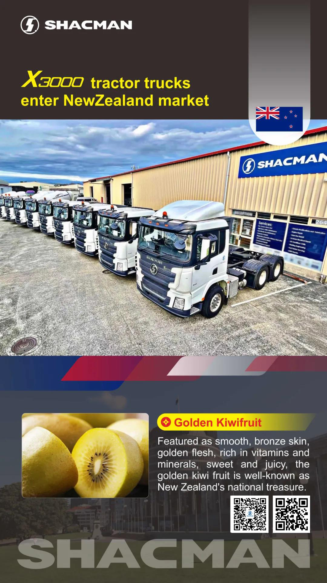 SHACMAN X3000 Tractors enter into New Zealand market