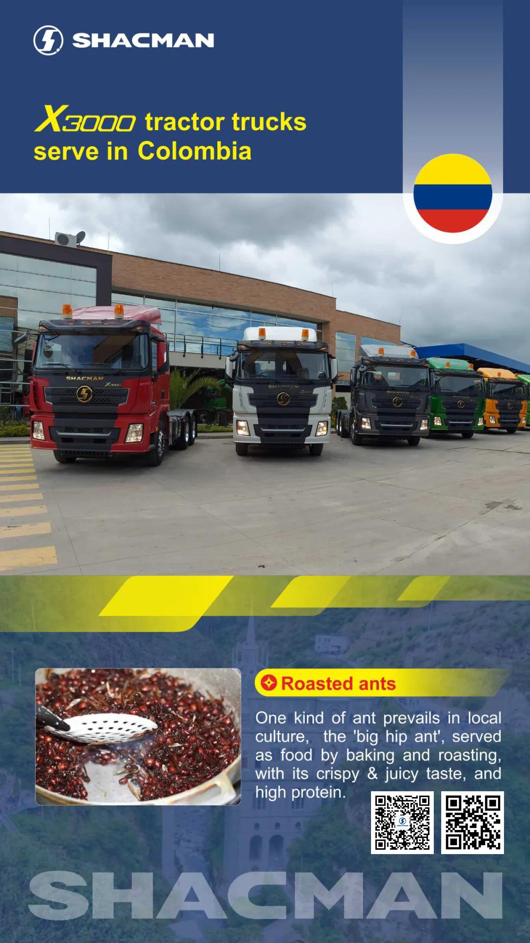 SHACMAN X3000 Tractor Trucks Serve in Colombia