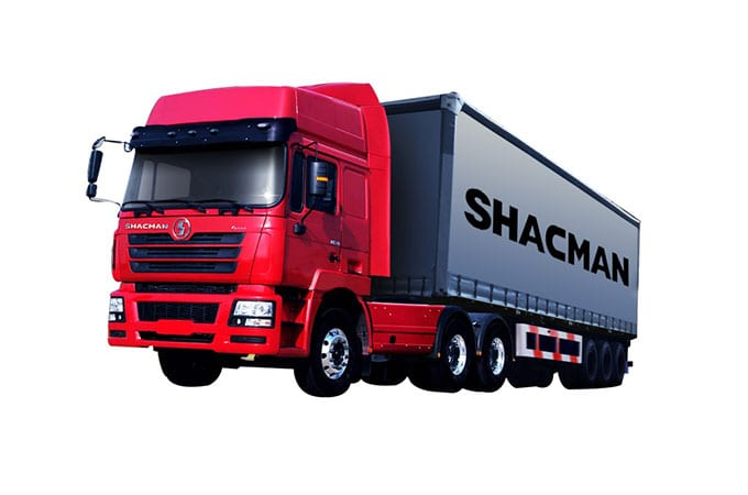 China New Product Shacman Factory Blue 6×4 Dumper -