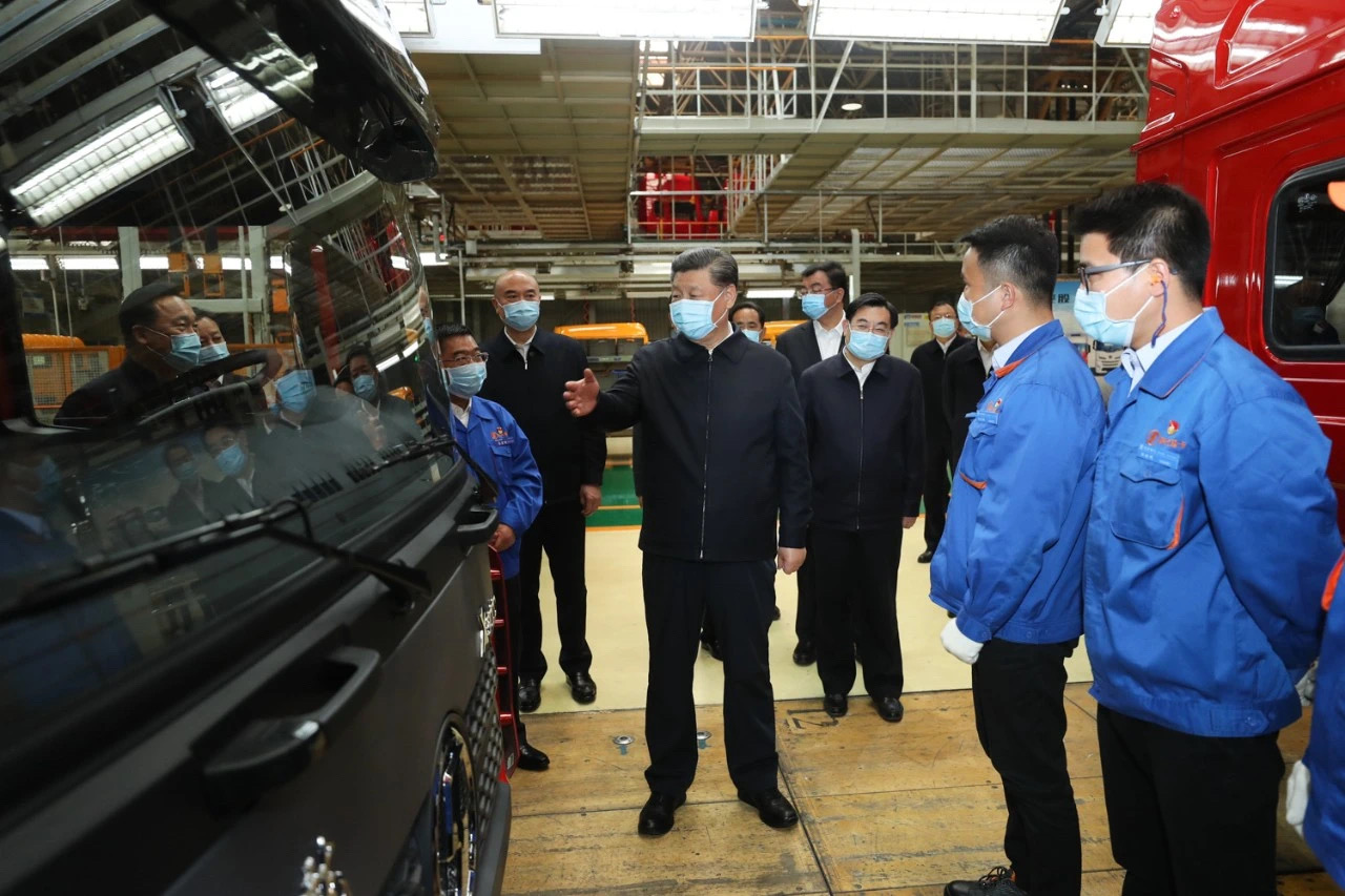 president Xi inspected SHACMAN
